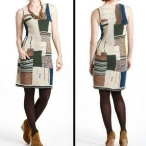 Sleeping on Snow Patchwork Variations Sweaterdress